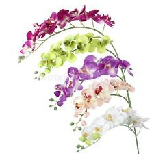 1x Artificial Silk Flower Stem Phalaenopsis Butterfly Orchid Wedding Party Decor