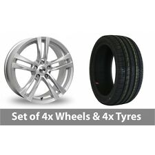 """4 x 18"""" Tekno RX4 Silver Alloy Wheel Rims and Tyres -  225/45/18"""