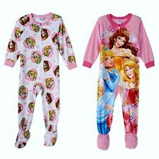 DISNEY PRINCESS BELLE CINDERELLA Footed Pajamas Fleece Blanket Sleeper NWT Sz 4T
