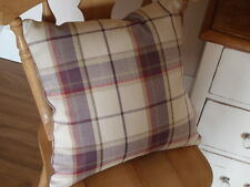 Laura Ashley Highland Check Cranberry Grape Purple Cushion Cover Reversible 16