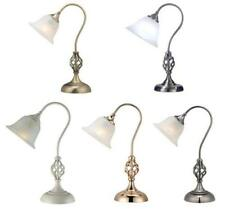 Classic Barley Twist Table Lamp Desk Light with Glass Shade 5 Metal finishes