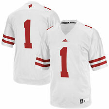 #1 Wisconsin Badgers adidas Replica Football Jersey - White - College