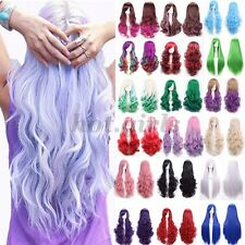 Lady Straight Wavy Ombre Hair Long Anime Cosplay Party Full Wig Fancy Dress VG77