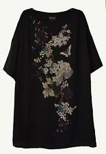 NEW PHASE EIGHT NAOKI PRINT BLACK PARTY TUNIC  DRESS SIZE 10 - 18