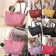 Large Womens Leather Tote Shoulder Bag Handbag Ladies Messenger Satchel Purse