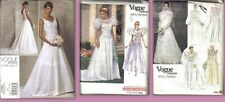 OOP Vogue Bridal Original Wedding Gown Sewing Pattern You Pick