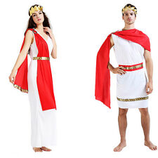 Womens Mens Grecian Roman Toga Caesar Venus Greek God Fancy Dress Couple Costume