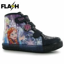 Character Kids PU Light Up Hi Tops Infants Velcro Strap Shoes Flashing Sole