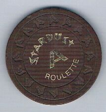 Stardust Resort & Casino HHR Brown A Roulette Chip 1970s Las Vegas Nevada