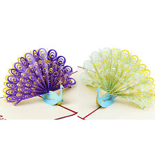 3D Pop Up Greeting Card Peacock Birthday Easter Anniversary Mother's Day Thanks1