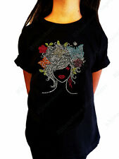 """Girls Rhinestone T-Shirt """" Colorful Girl """" Size 3 to 14 Available, Butterflies"""