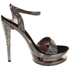 "PLEASER Day & Night FASCINATE-631DM 6"" Stiletto Heel Platform Ankle Strap Sandal"
