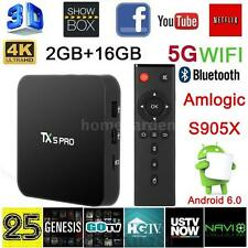 TX5 PRO KODI 16.1 Smart Android 6.0 TV Box 2G/16G 4K KQuad Core XBMC Player S0Q2