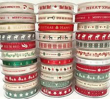 Large Selection Berisford's Christmas Ribbons - 1 3 or 5 Metres