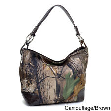 Dasein Tote Bag in Realtree Camouflage with Faux Croco Trim