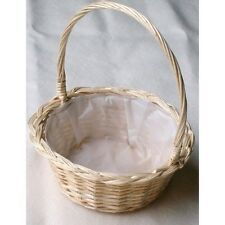 WICKER WEDDING,BRIDESMAID,FLOWERGIRLS ROUND BASKET.Medium