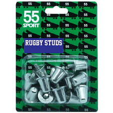 55 Sport Aluminium Rugby Studs BS6366 Union League 15 18 21 mm 12 or 16 Pack