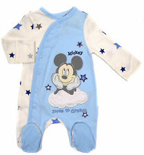 Baby Minnie and Mickey Mouse Sleepsuits Newborn up to 12 months Exstore
