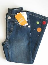Gymboree Cozy Cutie Jeans 4 slim New Gem Dot Blue Denim Pants Girl Twin