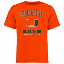 Miami Hurricanes Big & Tall Campus Icon T-Shirt - Orange - College