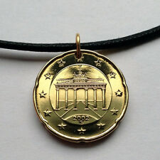Germany 20 euro cent pendant German necklace Brandenburg Gate Berlin n000389