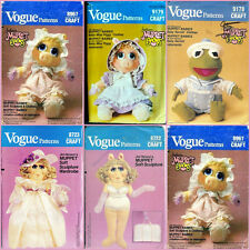 OOP Vogue Jim Henson's  Muppet Doll and Doll Clothes Sewing Pattern You Pick