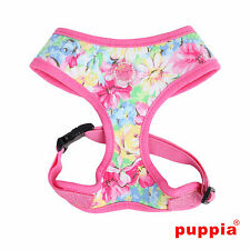Any Size - PUPPIA - SPRING GARDEN - Dog Puppy Soft Harness - Pink