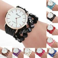 Fashion Womens Girls Leisure Quartz Bracelet Watches Crystal Diamond Wrist Watch