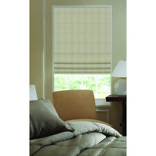 Roman Shades Ashton Stripe Linen Plain Fold Shade