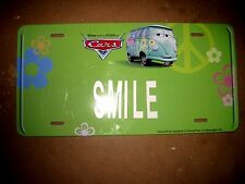 DISNEY/PIXAR CARS MOVIE LICENSE PLATE FOR  INDOOR USE: FEATURES VOLKSWAGEN BUS