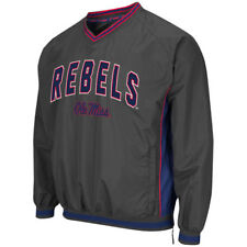 Ole Miss Rebels Colosseum Fair Catch Pullover Jacket - Charcoal - NCAA