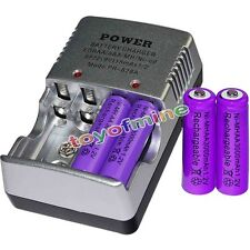 4 AA battery batteries Bulk Rechargeable NI-MH 3000mAh 1.2V Pur + Smart Charger