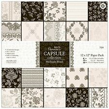 Papermania 12 x 12-inch Capsule Paper, Pack of 32, Midnight Blush