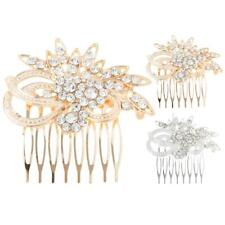 Bridal Crystal Rhinestone Pearl Hair Comb Hairpin Wedding Hair Accessories