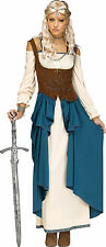 Viking Queen Costume Renaissance Dress Wench Medieval Womens Game of Thrones