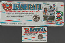 1988 Fleer Baseball Collectors Set in Tin - Logo Stickers and Trading Cards -New