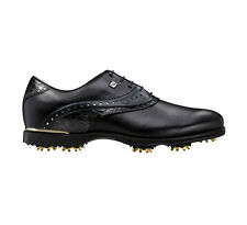 FootJoy Mens Icon Black Golf Shoes 52036–Black/Black Croc–Previous Season Style