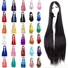 Women's Long Curly Wavy Full Wig Ombre Hair Cosplay Party Costume Fancy Dress #A