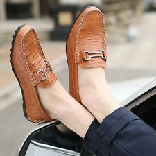 Mens Fashion Loafers Soft Driving Moccasins Slip On Flats Breathable Boat Shoes