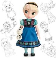 """NEW Disney 16"""" Animators' Collection Toddler FROZEN Elsa boxed Doll with Olaf"""