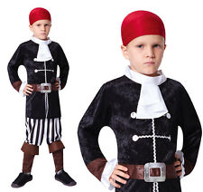 Childrens Pirate Captain Fancy Dress Costume Hook Halloween Outfit Kids Childs L