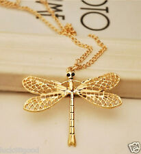 Women's new Retro Dragonfly necklace sweater chain Girl's Necklaces Pendants