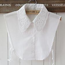 White Women's Lace Floral Choker Detachable Necklace Fake Half Shirt Collar New