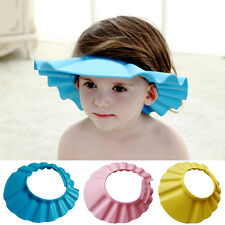 New Soft Shower Cap Hat Baby Kids Children Wash Hair Shield Shampoo Bath Bathing