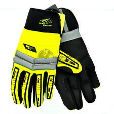 Revco GX108 Toolhandz Synthetic Leather Impact Mechanic's Gloves, Large