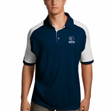 Memphis Grizzlies Antigua Century Performance Polo - Navy/White - NBA