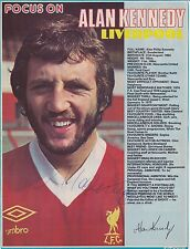 ALAN KENNEDY (Liverpool & Newcastle FC) Hand SIGNED A4 Poster