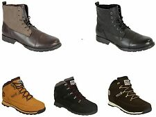 Mens Henleys Nubuck  Sonneti Military Ankle Height Walking Hiking Boots