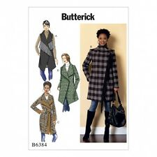 Butterick Ladies Easy Sewing Pattern 6384 Shawl Collar Coat, Waistcoat & ...