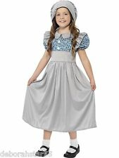 Smiffys Childrens Victorian School Girl Fancy Dress Costume 4-6 7-9 10-12 years
